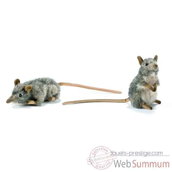 Anima - Peluche rats musques dresse et couche assorties 16 cm -4110