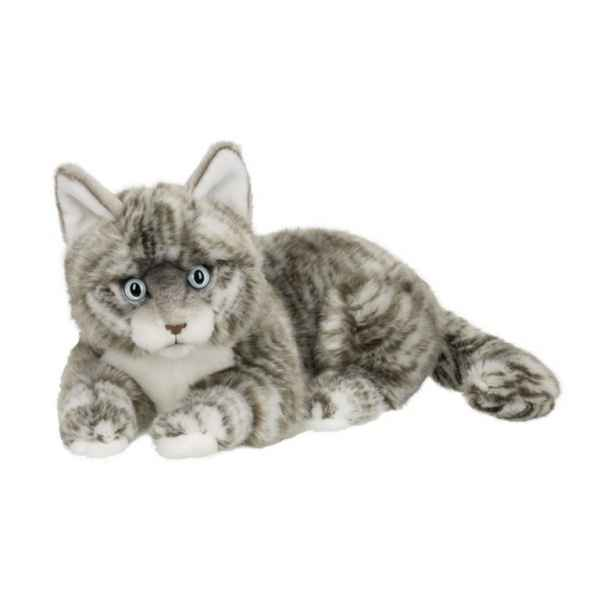 Peluche anna club plush chat american shorthair gris couche - 25 cm ACP -28179015