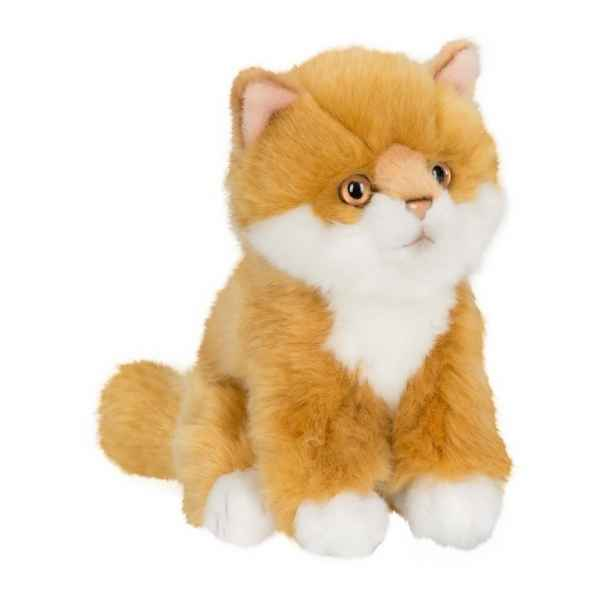 Peluche anna club plush chat roux a longs poils assis - 15 cm ACP -28179018
