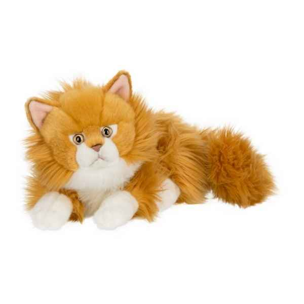 Peluche anna club plush chat roux a longs poils couche - 25 cm ACP -28179019