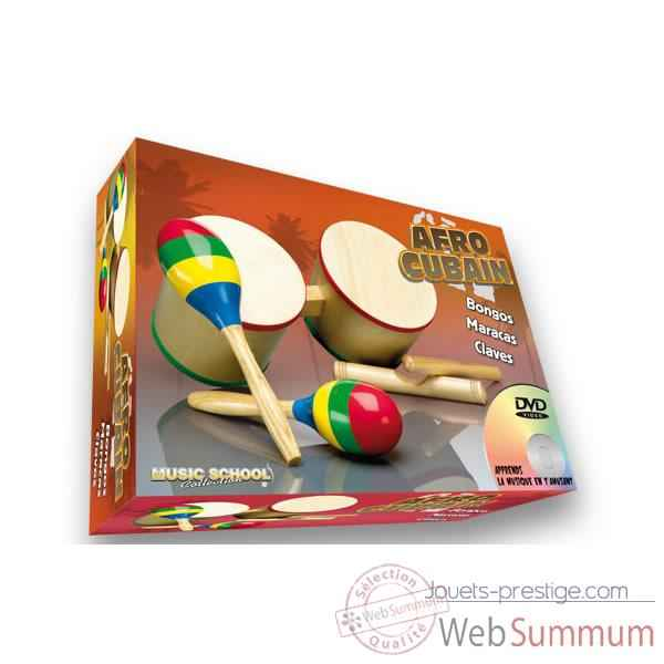 afro bongo claves maracas Oid Magic avec DVD-MU3