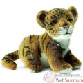 Video Anima - Peluche bebe tigre brun assis 18 cm -3421