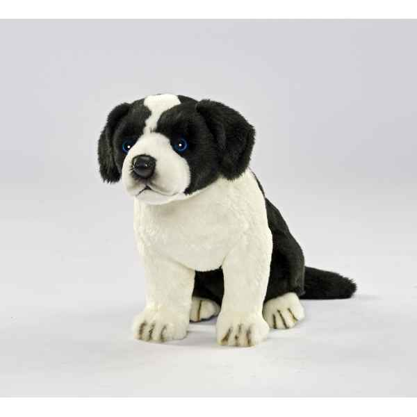 Peluche Border colley bebe chien assis 25cmh Anima -5664