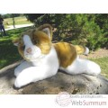 Video Anima - Peluche chat couche roux et blanc 30 cm -1950