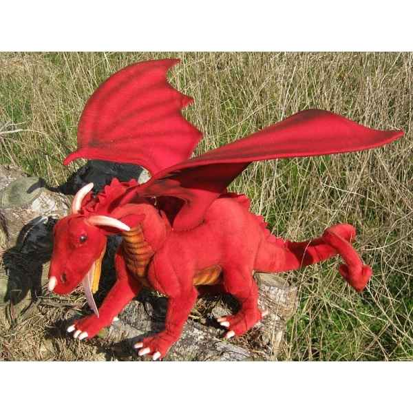 Peluche dragon rouge 70cm (long.) Anima 5936