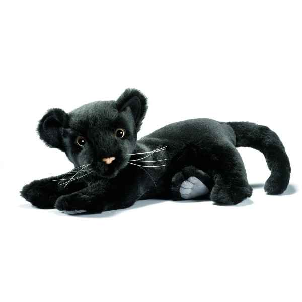 Peluche Panthere noire bebe couchee 26cm Anima 5330