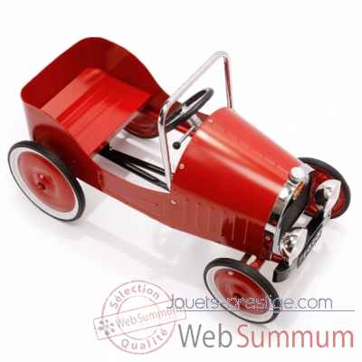 Video Voiture a pedales en metal - rouge - 82 x 43 cm - 3 a 5 ans - pedales reglables - Baghera-1938