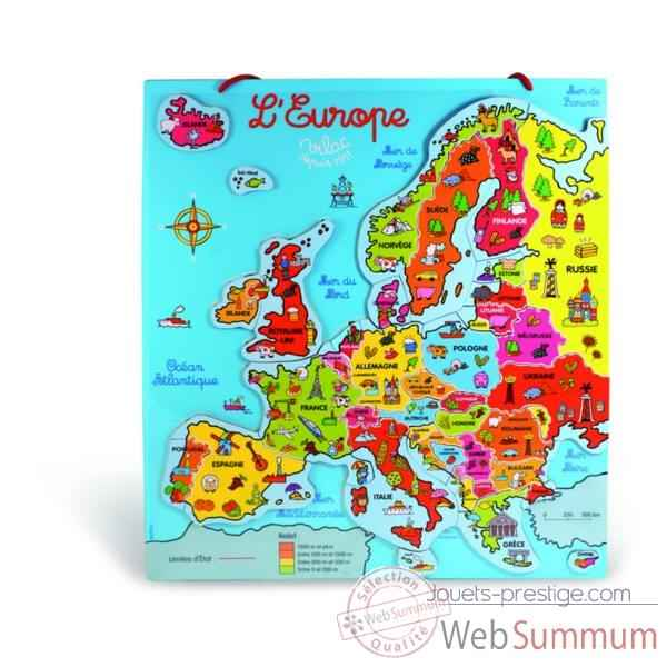Carte d\'europe magnetique Vilac-2584