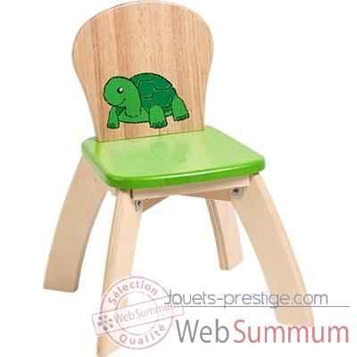 Chaise verte en bois pour enfants voila s019e photos for Chaise en bois pour enfant
