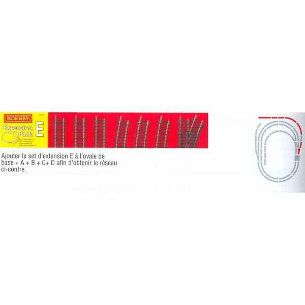 Coffret Extension Rails Jouef Pack E -jr8225