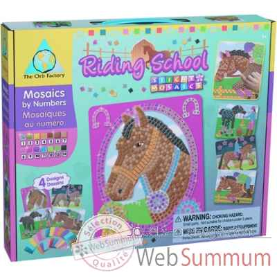 Coffret mosaiques autocollantes - equitation the orb factory-ORB62538