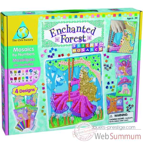 Coffret mosaiques autocollantes - foret enchantee the orb factory-ORB62286