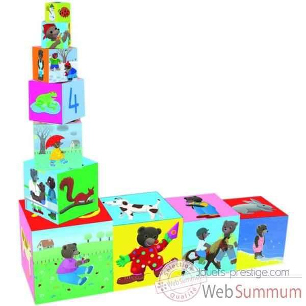 cubes gigognes petit ours brun vilac de vilac dans jouets. Black Bedroom Furniture Sets. Home Design Ideas