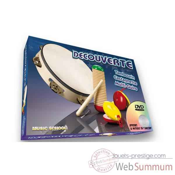 Decouverte tambourin castagnette guiro Oid Magic avec DVD-MU1