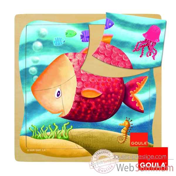 Puzzle poisson 5 pcs Goula -53096