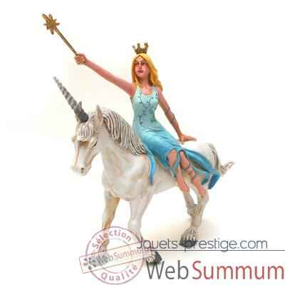 Video Figurine la fee bleue sur la licorne blanche-61374