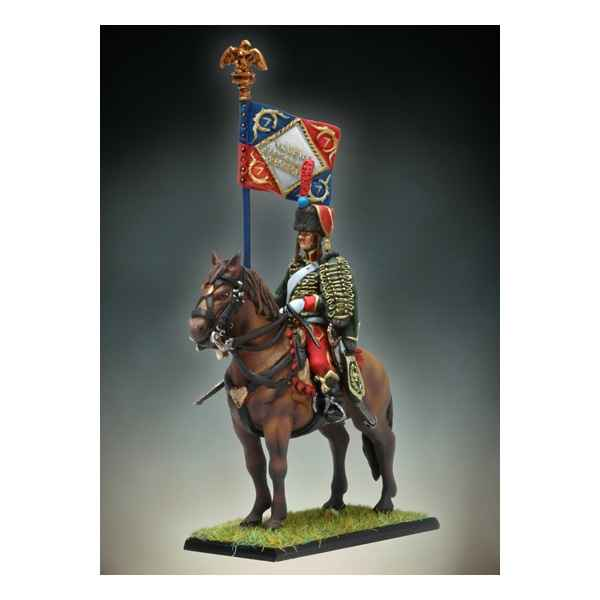 Figurine - Kit a peindre Etendard de Hussards a Cheval - NA-011