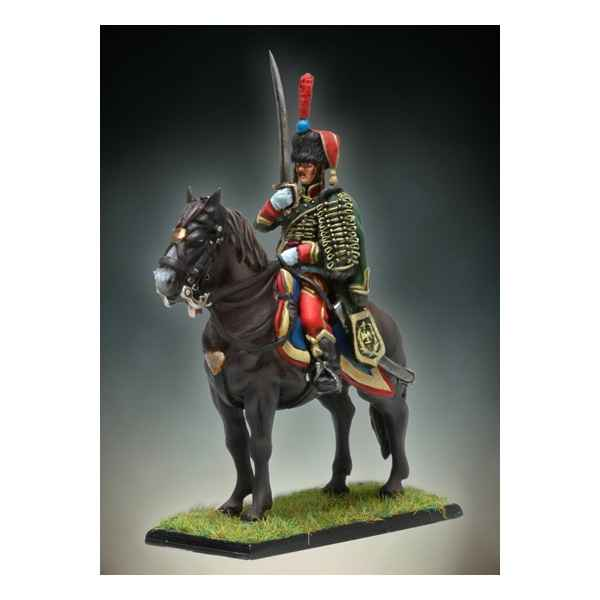 Figurine - Kit a peindre Officier de Hussards a Cheval - NA-014