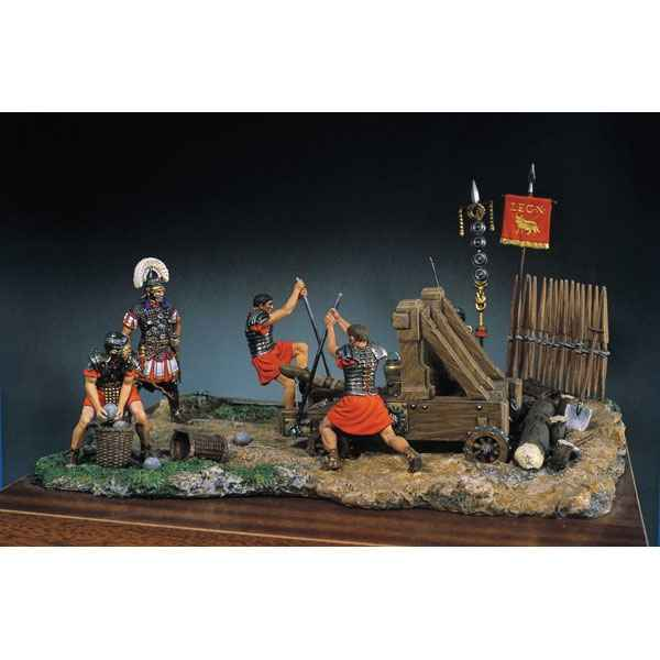 Figurine - Kit a peindre Ensemble Catapulte romaine - SG-S05