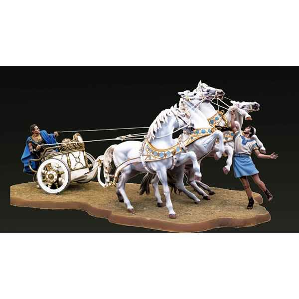 Figurine - Ensemble Quadrige  chars de course romains - SG-S09