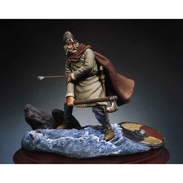 Figurine - Kit a peindre Guerrier viking blesse  - SM-F26