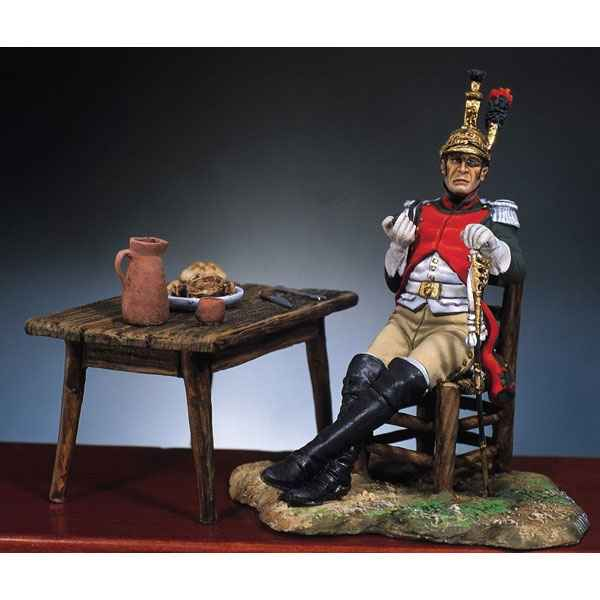 Figurine - Kit a peindre Officier francais  4e dragons en 1812 - S7-F10