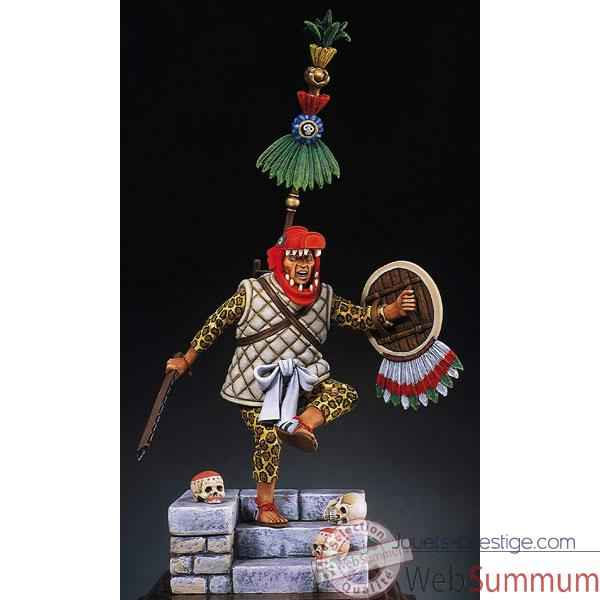Figurine - Kit a peindre Capitaine azteque en 1521 - S8-F5