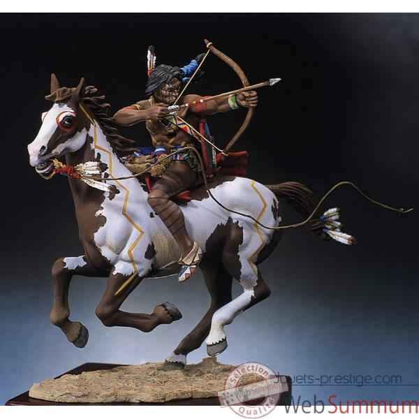 Figurine - Kit a peindre Guerrier sioux tirant a l'arc - S4-F3