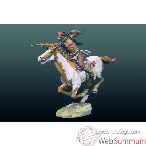 Video Figurine - Kit a peindre Apache a cheval - S4-F33