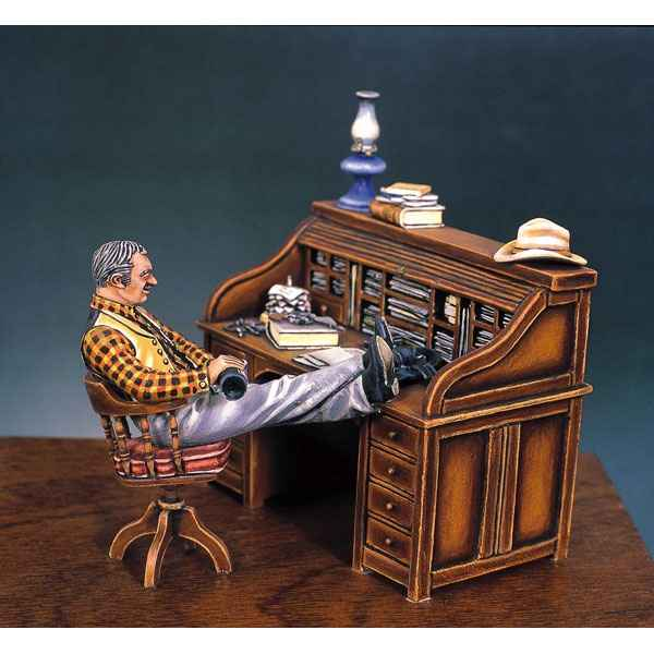Video Figurine - Kit a peindre Le bureau du sherif en 1880  - S4-S2