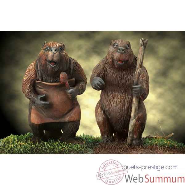 Figurine - Kit a peindre Mr. and Mrs. Beaver - NARNIA-06