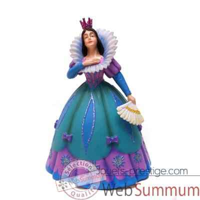 Figurine la princesse a l\'eventail robe bleue -61360