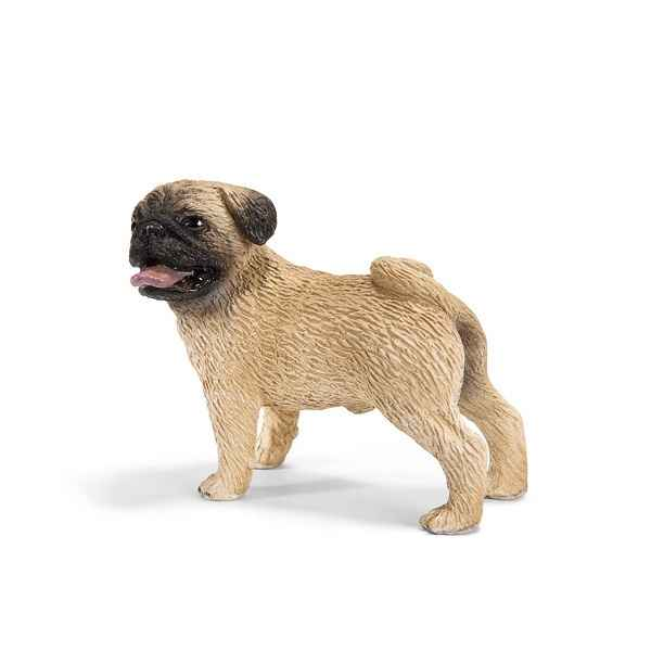 Figurine Schleich chien Carlin male -16381