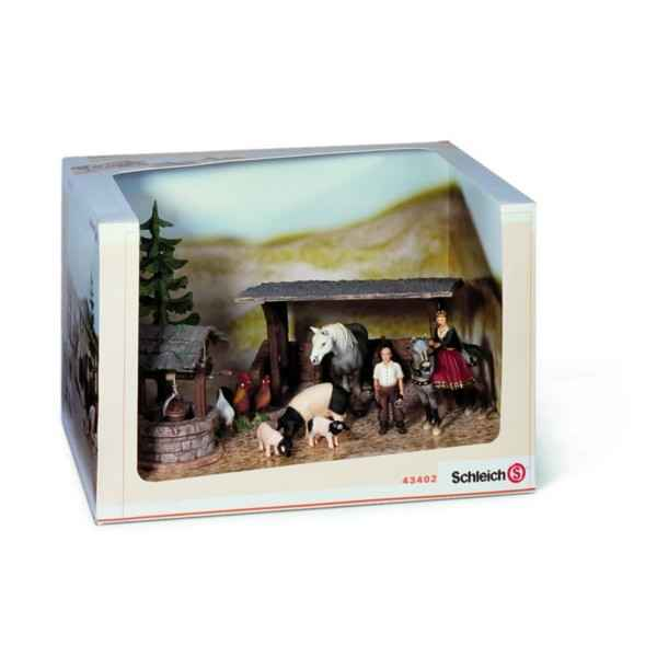 figurines de la ferme dans figurine schleich sur jouets prestige. Black Bedroom Furniture Sets. Home Design Ideas