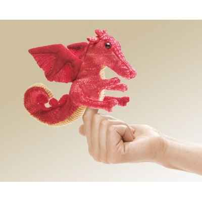 Marionnette Mini dragon rouge  -2696
