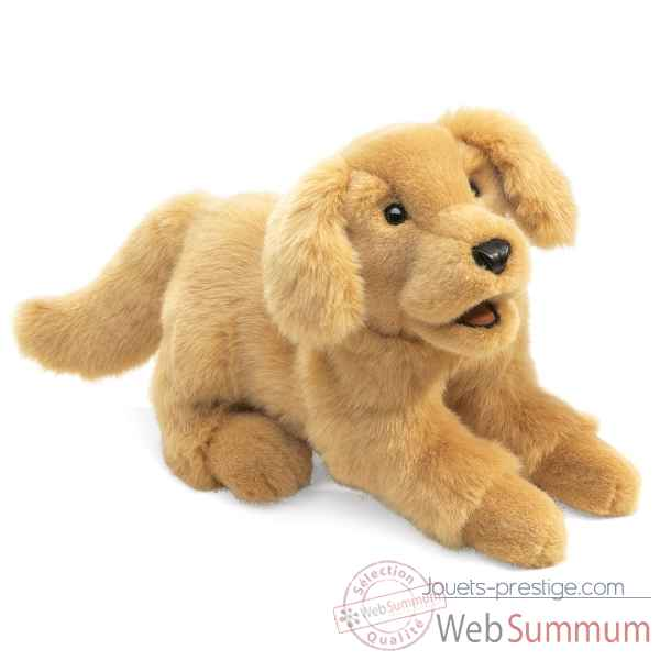 Marionnette peluche Folkmanis Chien Golden Retriever -2862 -2