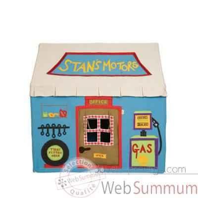 garage en tissu pour enfant petite taille dans maison. Black Bedroom Furniture Sets. Home Design Ideas