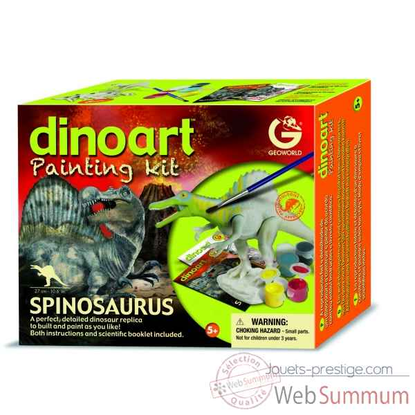 Gw dinoart painting kit - spinosaurus Geoworld -CL299K