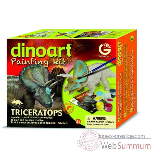 Gw dinoart painting kit - triceratops Geoworld -CL303K