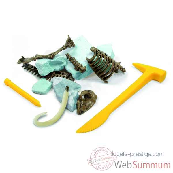 Gw ice age excav kit - mammouth - 26cm Geoworld -CL136K
