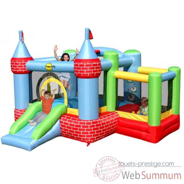 Jeu ch teau gonflable avec piscine balles happy hop 9112 de jouet plein air - Structure gonflable happy hop ...