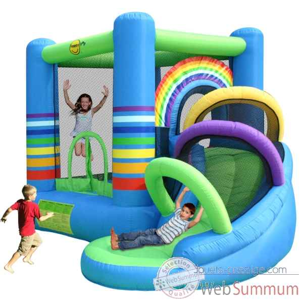 Jeu gonflable rainbow bouncy Happy Hop -9313