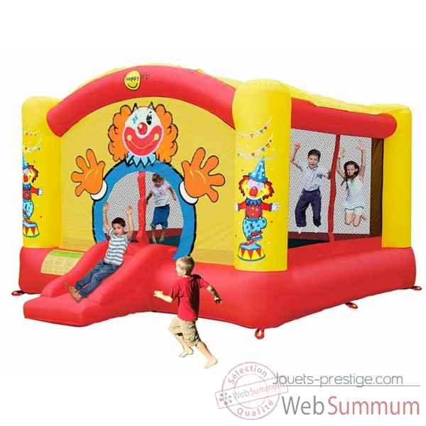Super jeu clown gonflable avec toboggan happy hop 9014n de jouet plein air - Structure gonflable happy hop ...