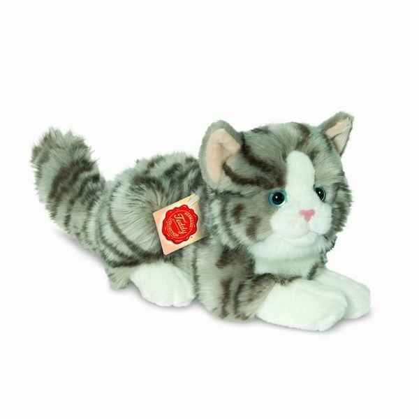 Chat gris 20 cm hermann -90691 9