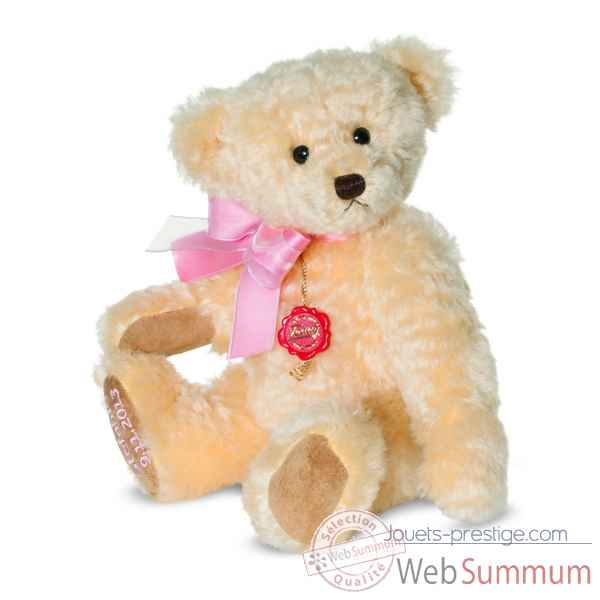 Ours Teddy bear vanille et rose 33 cm Hermann -12038 4