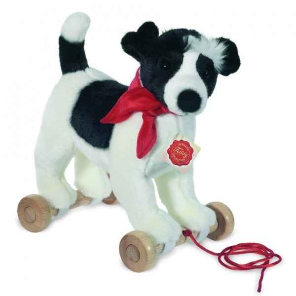 Peluche Chien Jack Russell sur roues Hermann Teddy collection 29cm 94600 7