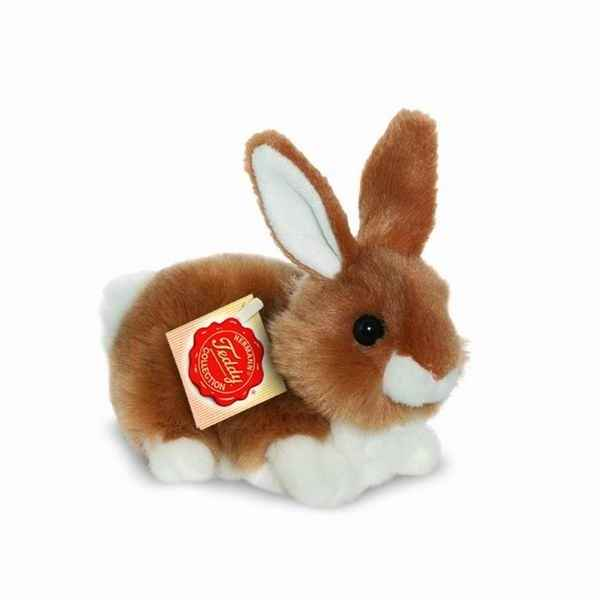 Lapin assis marron 15 cm hermann -93768 5