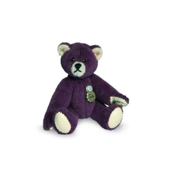 Mini ours teddy bear aubergine 6 cm Hermann -15407 5