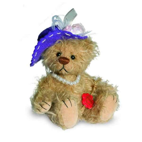 Mini ours teddy bear beatrice 14 cm chapeau Hermann -15087 9