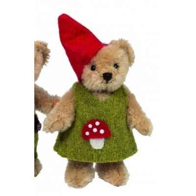 Mini peluche de collection ourse lutin 10 cm ed. limitee  Hermann -15482 2